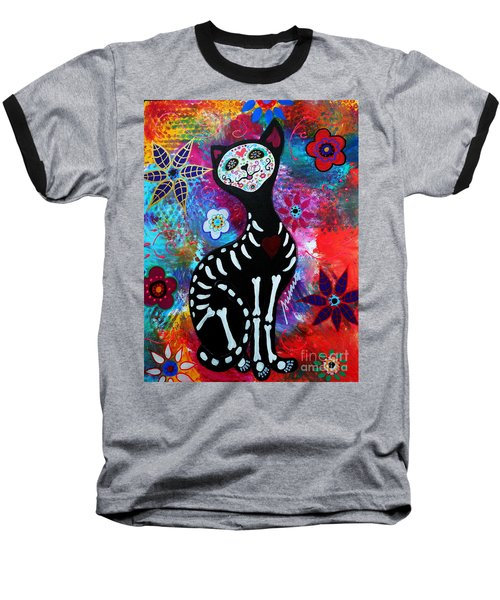 El Gato II Day Of The Dead Baseball T-Shirt