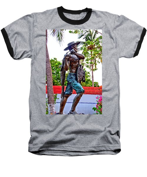 El Pescador Baseball T-Shirt by Jim Walls PhotoArtist