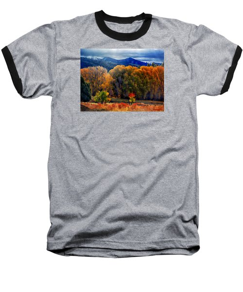 El Valle November Pastures Baseball T-Shirt by Anastasia Savage Ealy