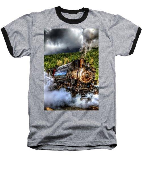 Elbe Steam Engine #17 Hdr Baseball T-Shirt