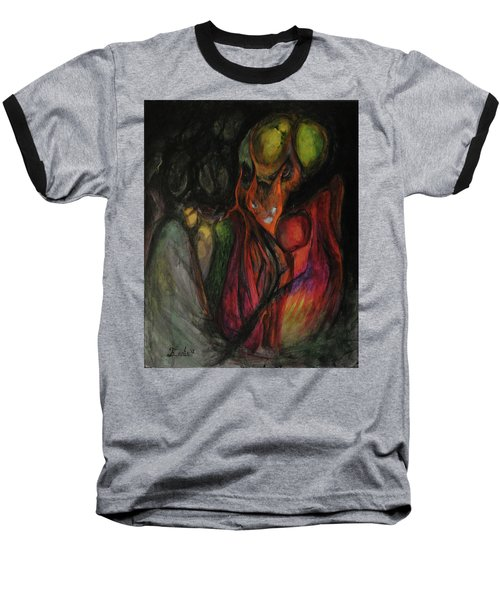 Baseball T-Shirt featuring the painting Elder Keepers by Christophe Ennis
