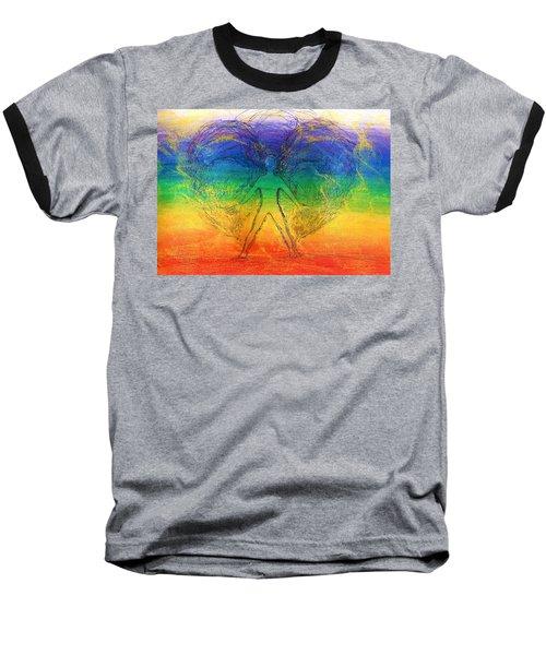 Electric Angel Baseball T-Shirt by Denise Fulmer