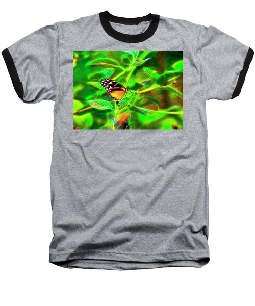 Baseball T-Shirt featuring the digital art Electric Butterfly by James Steele
