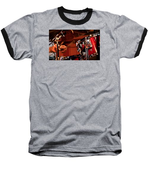 Baseball T-Shirt featuring the photograph Electric Drums by Cameron Wood