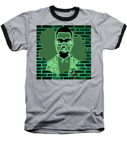 Electric Kanye West Graphic Baseball T-Shirt by Dan Sproul