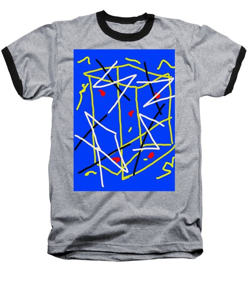 Electric Midnight Baseball T-Shirt by Paulo Guimaraes