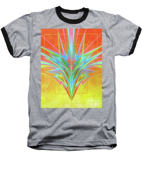 Electric Personality  Baseball T-Shirt by Alan Johnson