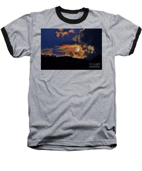 Electric Rainbow Baseball T-Shirt by Craig Wood