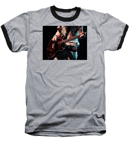 Baseball T-Shirt featuring the photograph Electric Rock by Cameron Wood