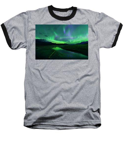 Electric Skies Over Jasper National Park Baseball T-Shirt