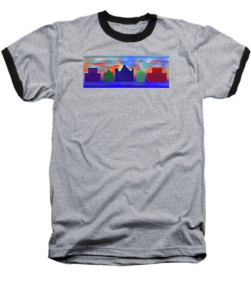 Electric Sunrise Baseball T-Shirt