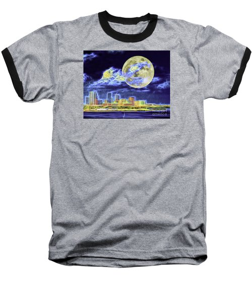 Baseball T-Shirt featuring the photograph Electric Tampa by Ken Frischkorn