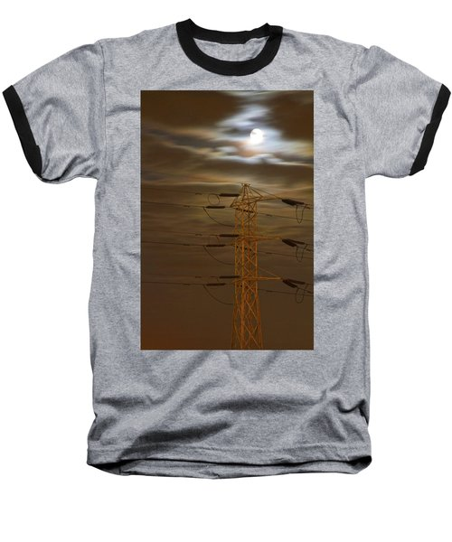 Electric Tower Under Supermoon Baseball T-Shirt