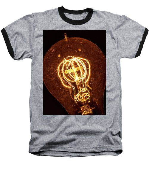 Electricity Through Tungsten Baseball T-Shirt