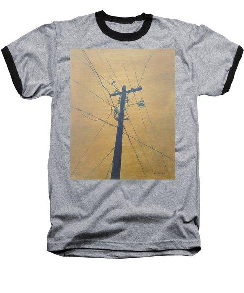 Electrified Baseball T-Shirt by T Fry-Green