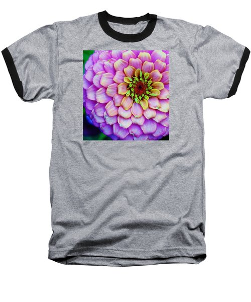 Baseball T-Shirt featuring the photograph Electrifying Zinna by Bruce Bley