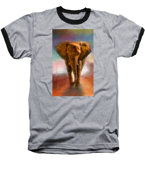 Elephant 1 Baseball T-Shirt