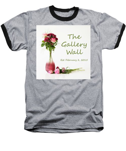 Baseball T-Shirt featuring the photograph Elegance-the Gallery Wall Logo by Wendy Wilton