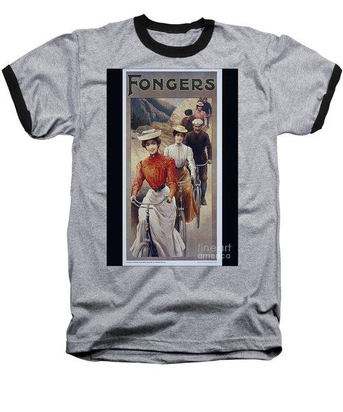 Elegant Fongers Vintage Stylish Cycle Poster Baseball T-Shirt