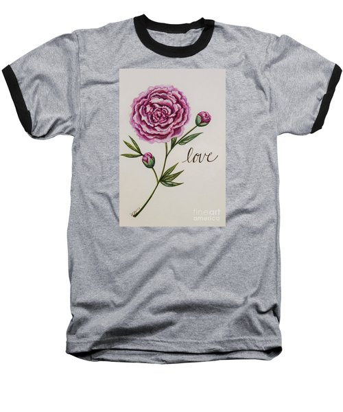 Elegant Love Baseball T-Shirt by Elizabeth Robinette Tyndall