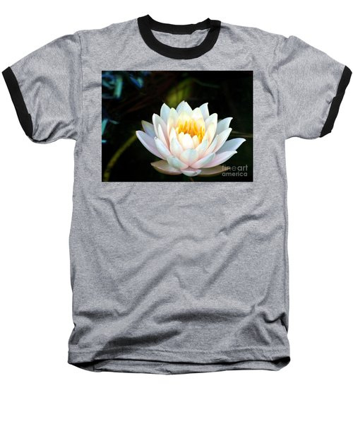 Elegant White Water Lily Baseball T-Shirt