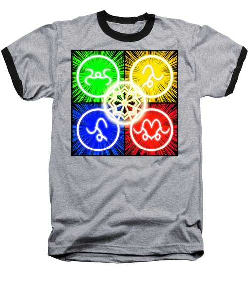 Baseball T-Shirt featuring the digital art Elements Of Consciousness by Shawn Dall