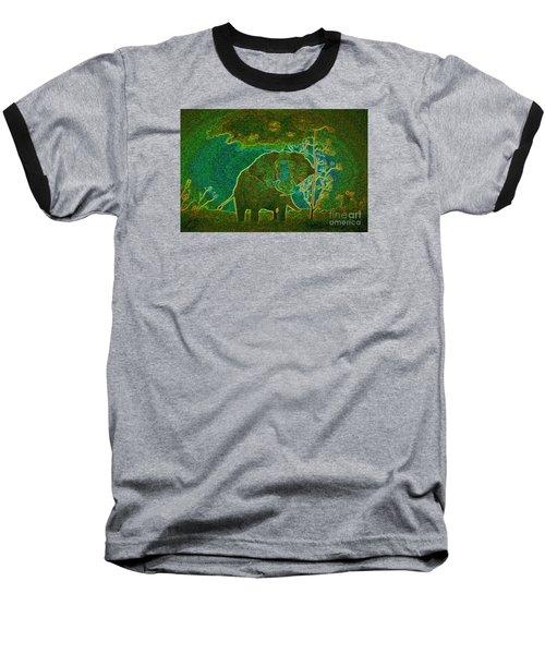 Elephant Abstract Baseball T-Shirt by John Stuart Webbstock