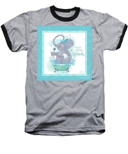 Elephant Bath Time Splish Splash Baseball T-Shirt