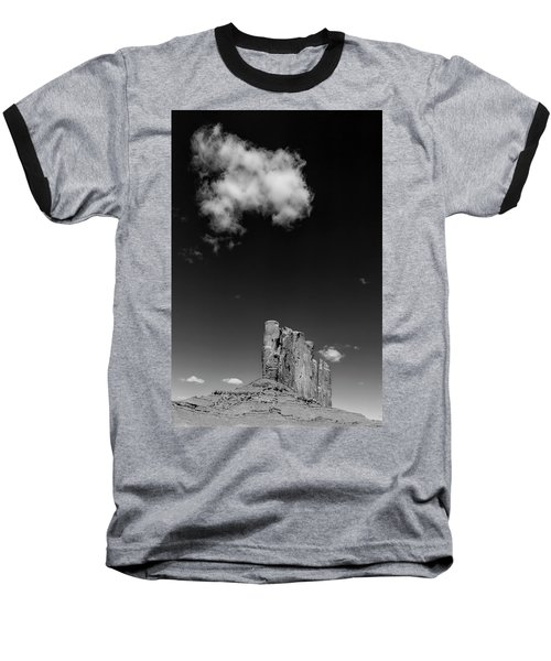 Elephant Butte In Black And White Baseball T-Shirt