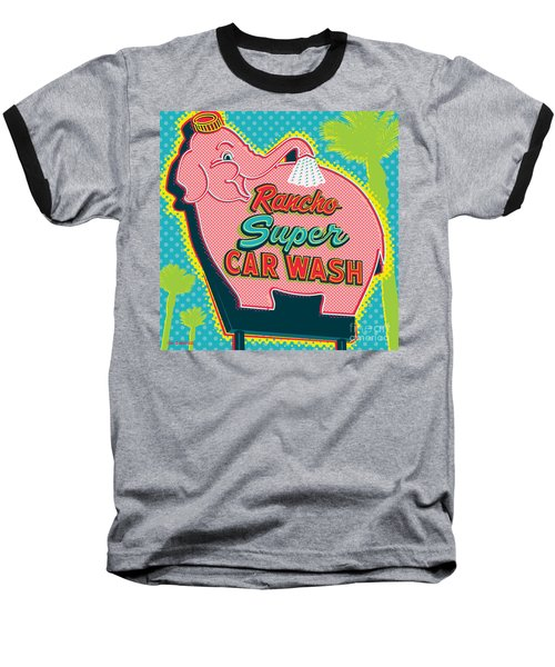 Elephant Car Wash - Rancho Mirage - Palm Springs Baseball T-Shirt