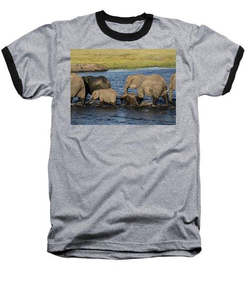 Elephant Crossing Baseball T-Shirt