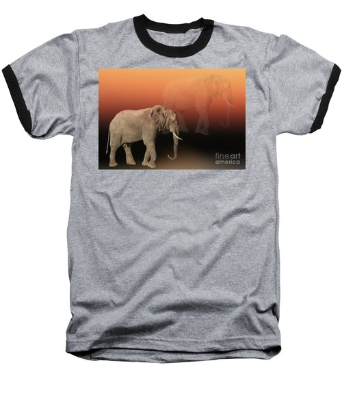 Baseball T-Shirt featuring the photograph Elephant Dreams by Myrna Bradshaw