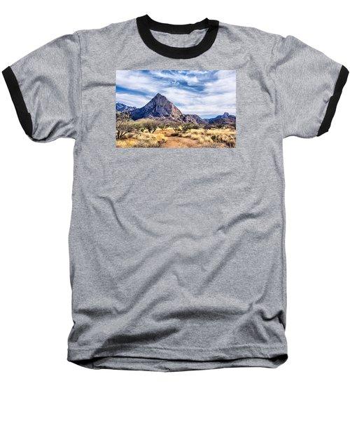 Elephant Head Baseball T-Shirt by Barbara Manis