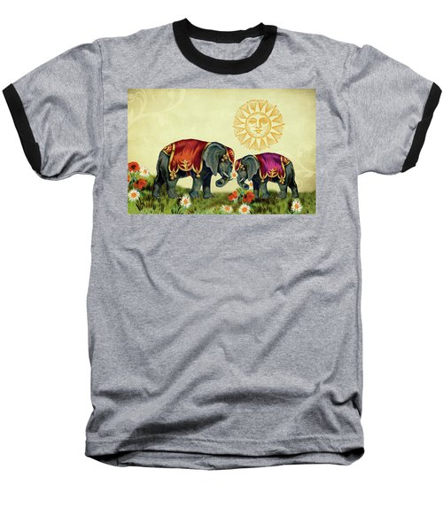 Elephant Love Baseball T-Shirt