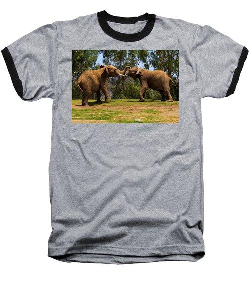 Elephant Play 3 Baseball T-Shirt