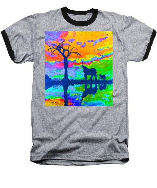 Elephant Reflections Baseball T-Shirt