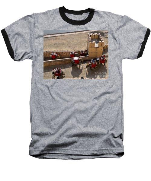 Elephant Ride 3 Baseball T-Shirt