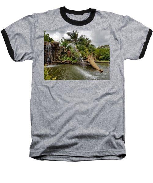Elephant Waterfall Baseball T-Shirt