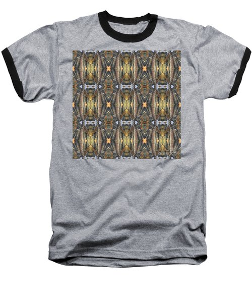 Elephant With Branch Pattern 1 Baseball T-Shirt