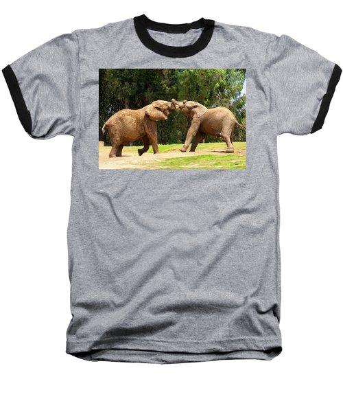 Elephants At Play 2 Baseball T-Shirt