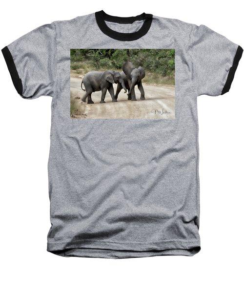 Elephants Childs Play Baseball T-Shirt