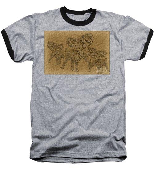 Elephants Three Baseball T-Shirt