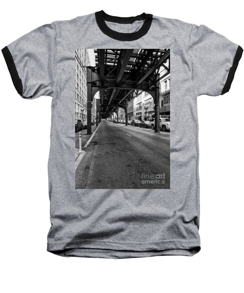 Elevated Train Track The Loop In Chicago, Il Baseball T-Shirt