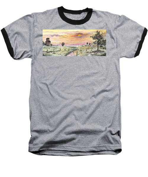 Elevator In The Sunset Baseball T-Shirt
