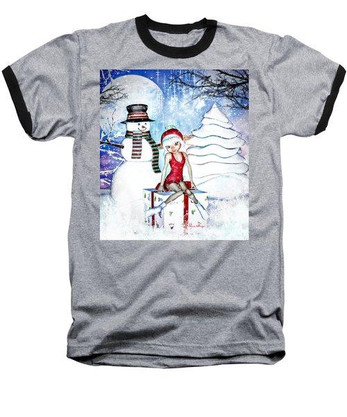 Elfin Winter Holidays Baseball T-Shirt