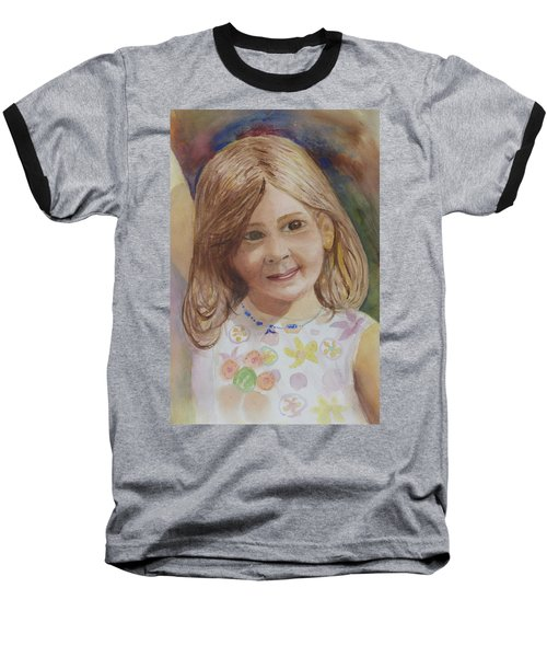 Baseball T-Shirt featuring the painting Elizabeth by Donna Walsh