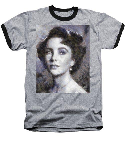 Elizabeth Taylor By Sarah Kirk Baseball T-Shirt