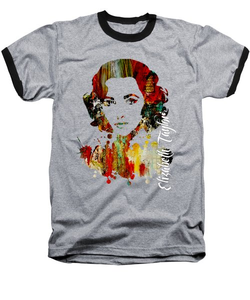 Elizabeth Taylor Collection Baseball T-Shirt by Marvin Blaine