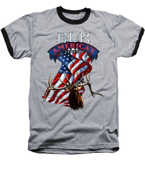Elk America's Legend V2 Baseball T-Shirt by Rob Corsetti