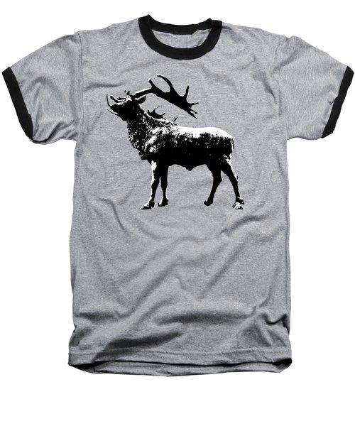 Elk Art Baseball T-Shirt